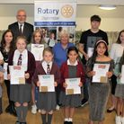 13 Rotary Club of Dunmow award winners at the Rowena Davey Centre