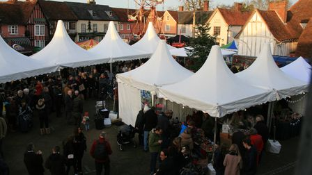 Lavenham's Christmas fair is set to return this year after a Covid- hit 2020