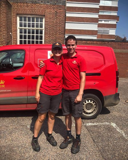 Stephanie Sizeland and Benjamin Bird, helped two men whilst out on delivery rounds last week in Fakenham.