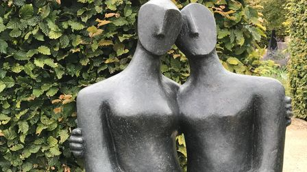 A sculpture by John Brown - one of many works that has been exhibited by Art for Cure