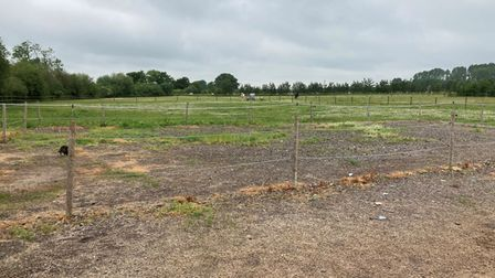 2 acres of land laid out as paddocks in Methwold, Norfolk, which sold at auction