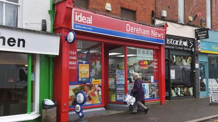 Dereham News, in the town's Market Place, has been trading for 40 years
