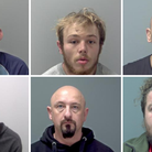 A number of criminals have been locked up at Suffolk's courts in the last month