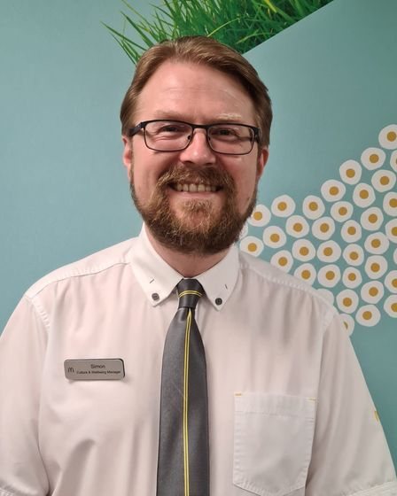 Simon Bean, culture and wellbeing manager at Kevin Foley's McDonald's branches across Norfolk