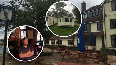 A row over static caravans at the Beauchamps Arms is continuing to rumble on