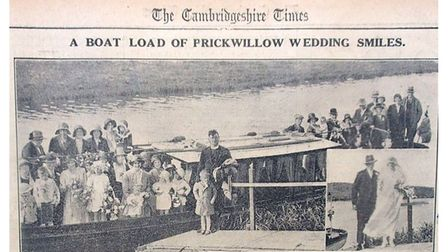 By Boat to the Wedding – Ely Standard September 30th 1932