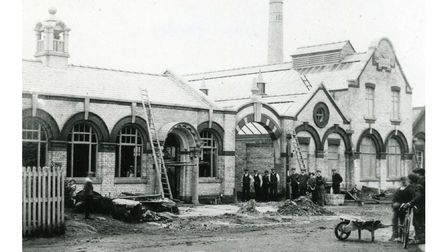 The construction of the 'Jam Factory' 1890