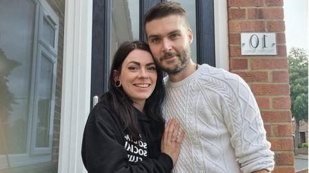 Kayla Allman and her finance Scott Coleman also moved into their first home inHeartsease, Norwich.