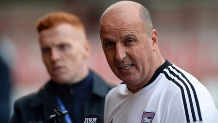 Ipswich Town Manager Paul Cook after the loss at Accrington Stanley.