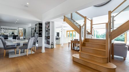 The renovated property has a stunning open plan layout