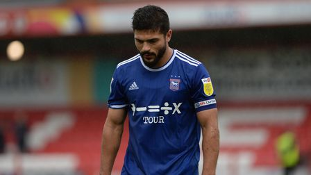 Sam Morsy makes his way to the dressing rooms after the defeat at Accrington Stanley.