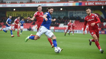 Wes Burns tries to create something at Accrington Stanley.