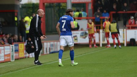Paul Cook is animated at Accrington Stanley.