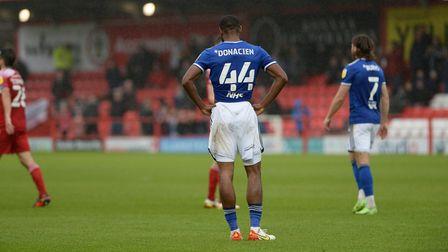 Janoi Donacien is disappointed at Accrington Stanley.