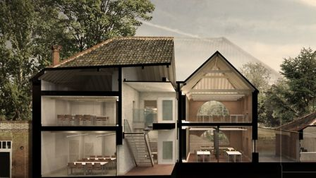 A cutaway of what the buildings at Earlham Hall will look like. Pic: LSI Architects.