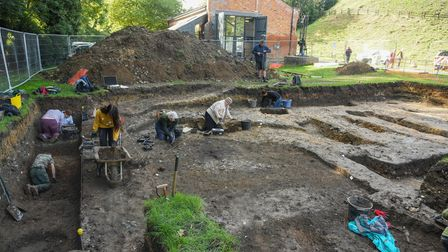 One of the excavation sites at Clare Castle. Picture: Danielle Booden