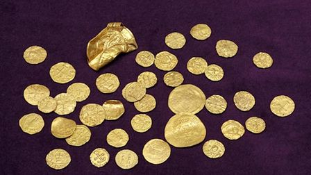 Picture of the coins found near King's Lynn.