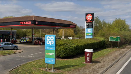 Texaco at Galleys Corner, off the A120 in Braintree
