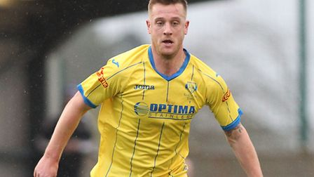 Lee Stevenson scored in Lynn's last outing at Chippenham. Picture: FOCUS IMAGES