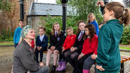 The children were joined by councillor Hilary Cox Condron on October 2