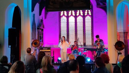 Georgie at sound city Ipswich in St Stephens Church, Saturday 3 october 2021