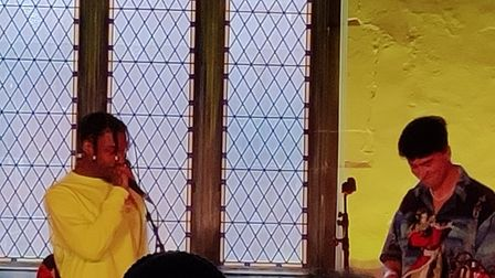 Rapper, Native James at St Stephens Church Ipswich for the Sound City festival