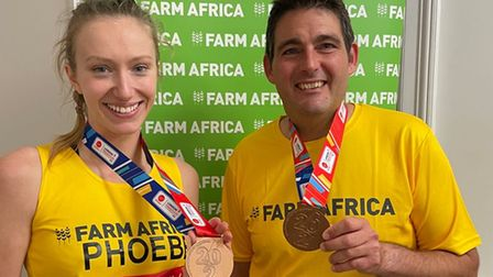 Phoebe Russell and Luke Paterson have completedthe 2021 London Marathon
