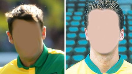 Can you identify the Norwich City players in our photo quiz - with their faces missing?