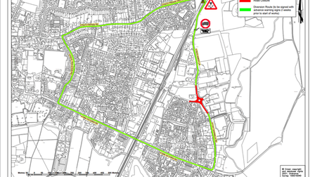 Diss resurfacing works Norfolk County Council