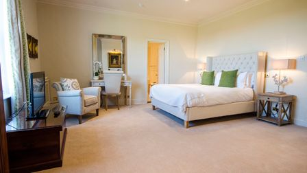 One of the bedrooms at The Black Lion in Long Melford