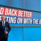MP Steve Barclay tweeted this photo of himself arriving at the Conservative Party conference