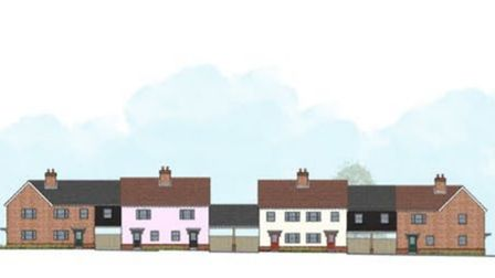 A rendering of the housing style for the proposed Helena Romanes School development