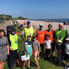 Budleigh's green army at the beach