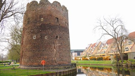 The City of Norwich viewed from the River Wensum. Cow Tower. Picture: Denise Bradley