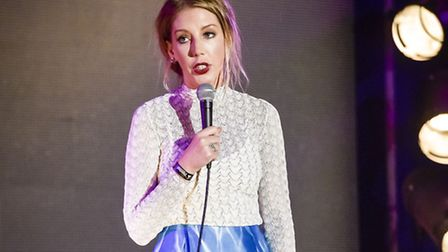 Comedian Katherine Ryan performs at the Norwich Playhouse tonight. Ben Birchall/PA Wire