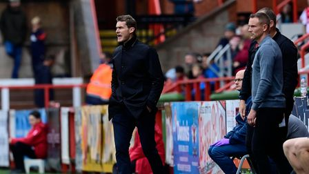 Matt Taylor ,Manager of Exeter City during the Sky Bet League 2 Match between Exeter City and Walsa