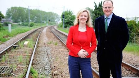 Elizabeth Truss MP and George Freeman MP at the Queen Adelaide level crossing