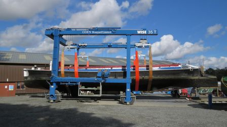 It was the first time in the trust's ownership of the wherry that it was lifted from the water