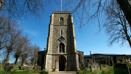 St Andrew's Church, Holt, which largely survived the fire of 1708