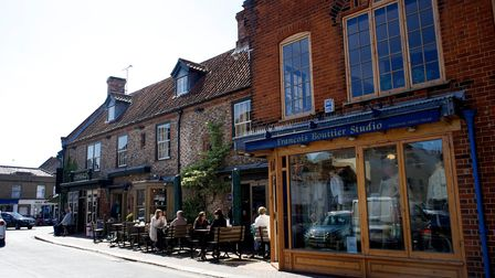 Independent shops and restaurants in Holt town centre