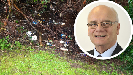 Breckland councillor, Gordon Bambridge, has made it his mission to sort out the litter on Safria Way in Dereham