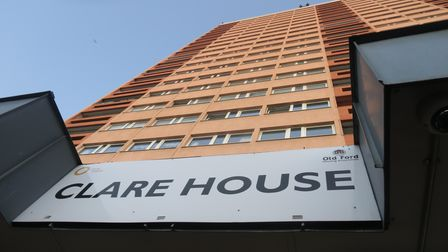Clare House in Hawthorne Road on Bow's Montieth Estate