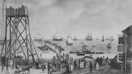 The Roads Anchorage and the Jetty, 1801