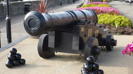 The barrel of this 18thcentury cannon served as a gatepost at the Royal Arsenal until 1983