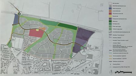 The plans for the'Fakenham Urban Extension', will see 950 new homes built in the town.