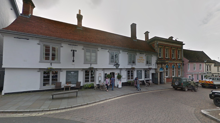 Film crews were spotted outside the The Crown Hotel in Framlingham