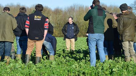 Sentry cover crop walk at Hill House Farm, Hedenham. Pictured: Sentry's business manager John Barret