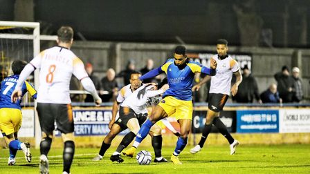 Gold Omotayo in action for King's Lynn Town