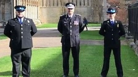 Chief Constable Nick Dean at Ely Cathedral