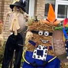 Minions and other scarecrows at the Needham Market scarecrow festival 2020